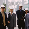 Businesspeople Wearing Hard Hats