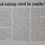 Social ills, risk-taking cited in youths' drug abuse [The Boston Globe,  October 20, 1995]