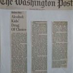Alcohol: Kids' Drug of Choice [The Washington Post, May 27, 2000]