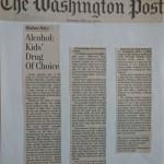 Alcohol: Kids' Drug of Choice [The Washington Post, May 27, 2000]
