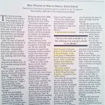 Best Weapon in War on Drugs: Sixth Grade [The Christian Science Monitor, June 19, 1997]