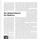 The Method Behind the Madness [Counselor, February 2002]