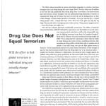Drug Use Does Not Equal Terrorism [Counselor, June 2002]