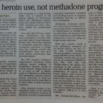 Cut heroin use, not methadone programs [Cleveland Plain Dealer, October 23, 1998]