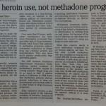 Cut heroin use, not methadone programs [Cleveland Plain Dealer, October 23, 1998]