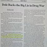 Dole Backs the Big Lie in Drug War [LA Times, October 22, 1996]