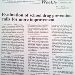 Evaluation of school drug prevention calls for more improvement [Alcoholism and Drug Abuse Weekly, May 24, 1999]