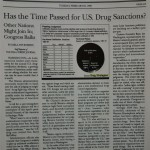 Has the Time Passed for U.S. Drug Sanctions? [Wall Street Journal, February 24, 1998]
