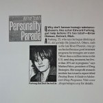 Walter Scott's Personality Parade [Parade Magazine, January 19, 2003]