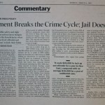 Treatment Breaks the Crime Cycle, Jail Doesn't [LA Times, March 6, 1995]
