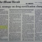 U.S. strategy on drug certification changing [The Miami Herald, November 18, 1997]