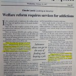 Welfare reform requires services for addictions [February 19, 1997]