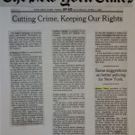 Cutting Crime, Keeping Our Rights [New York Times, April 1, 2000]