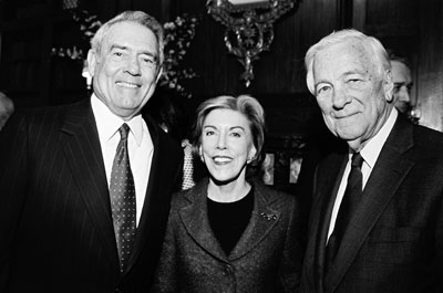 dan rather, mathea falco, john whitehead