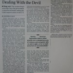 Don't Knock Colombia for dealing with the Devil [LA Times, June 25, 1991]