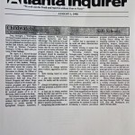 Childwatch: Safe Schools [The Atlanta Inquirer, August 1, 1998]