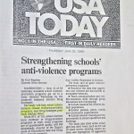 Strengthening schools' anti-violence programs [USA Today, June 25, 1998]
