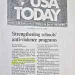 Strengthening schools' anti-violence programs [USA Today, June 25, 1998]