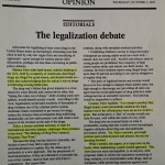 The legalization debate [The Roanoke Times, October 3, 1996]