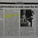 A kilo of prevention is only cure for drug woes [The News, April 22, 1993]