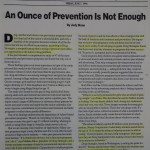 An Ounce of Prevention is Not Enough [The Washington Post, June 7, 1996]