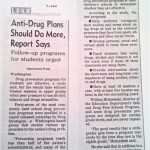 Anti-Drug Plans Should Do More, Report Says [The San Francisco Chronicle, June 4, 1996]